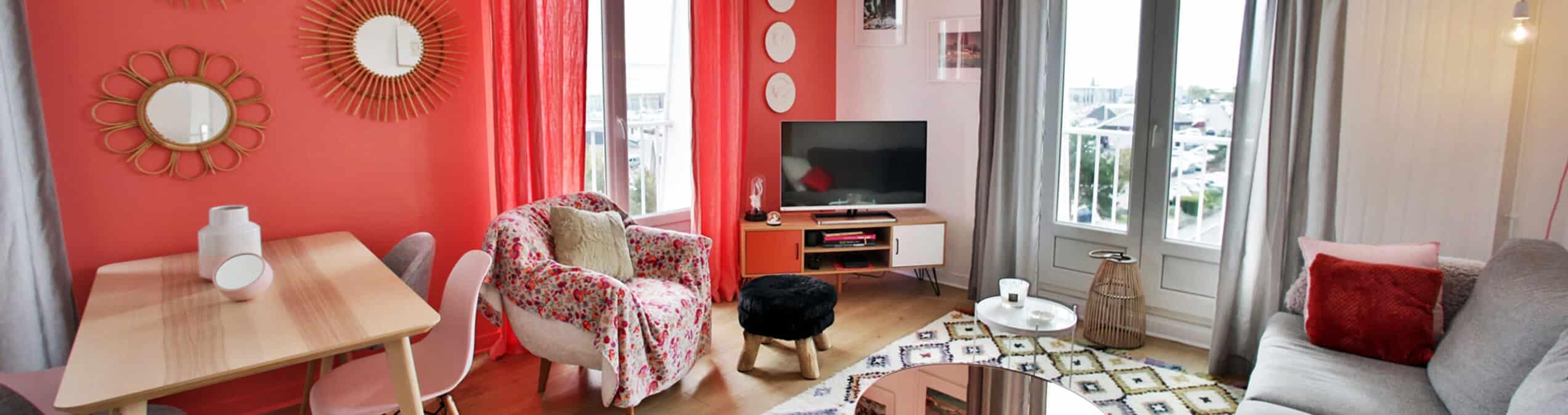 Appartement au féminin, une décoration édulcorée