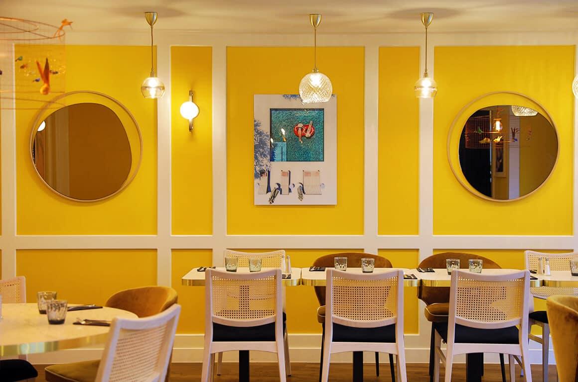 Salle de restaurant - granville - decoration interieur - 01