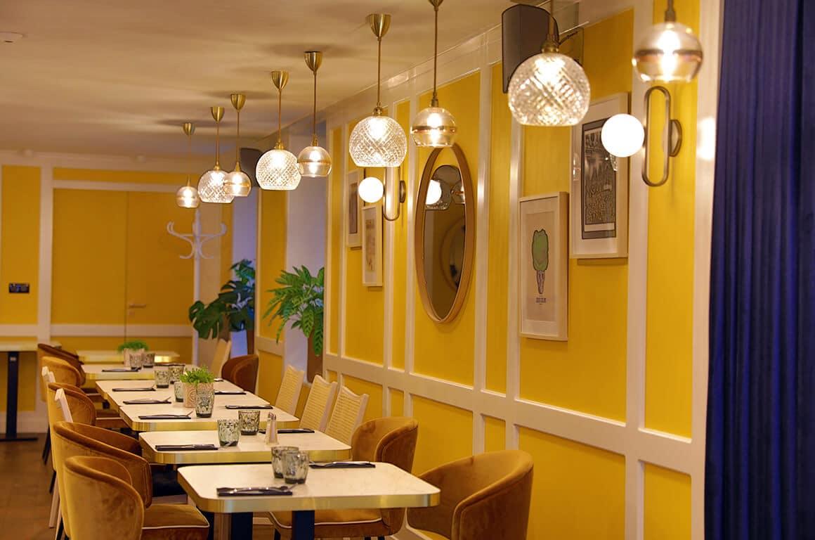 Salle de restaurant - granville - decoration interieur - 02