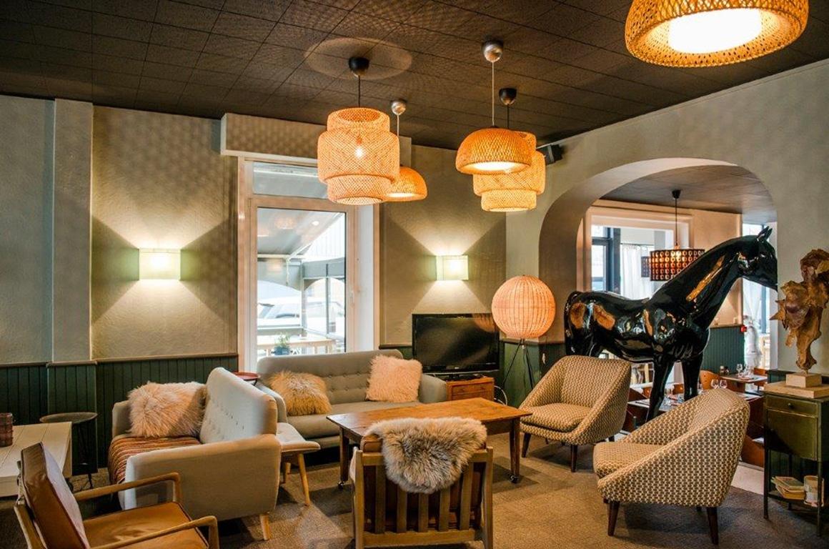 Hôtel des Pins, classique lounge - granville - décoration d'intérieur