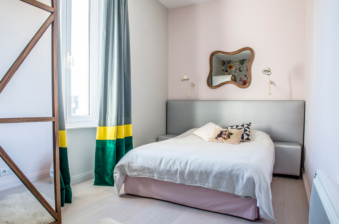 La chambre d'Anna, bohème chic - granville - décoration d'intérieur