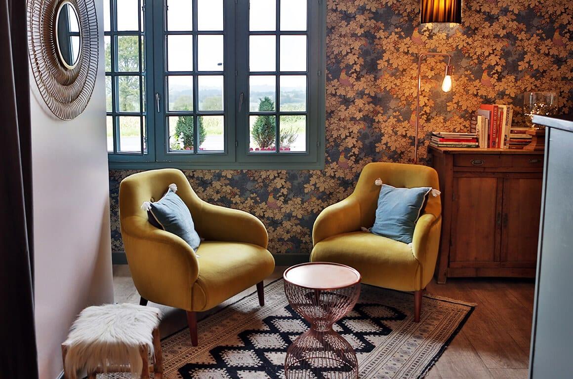 Les Bruyeres, neo-vintage - granville - decoration d'intérieur