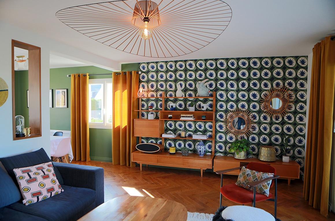 Maison d'architecte des années 70- Granville - décoration d'intérieur - 01