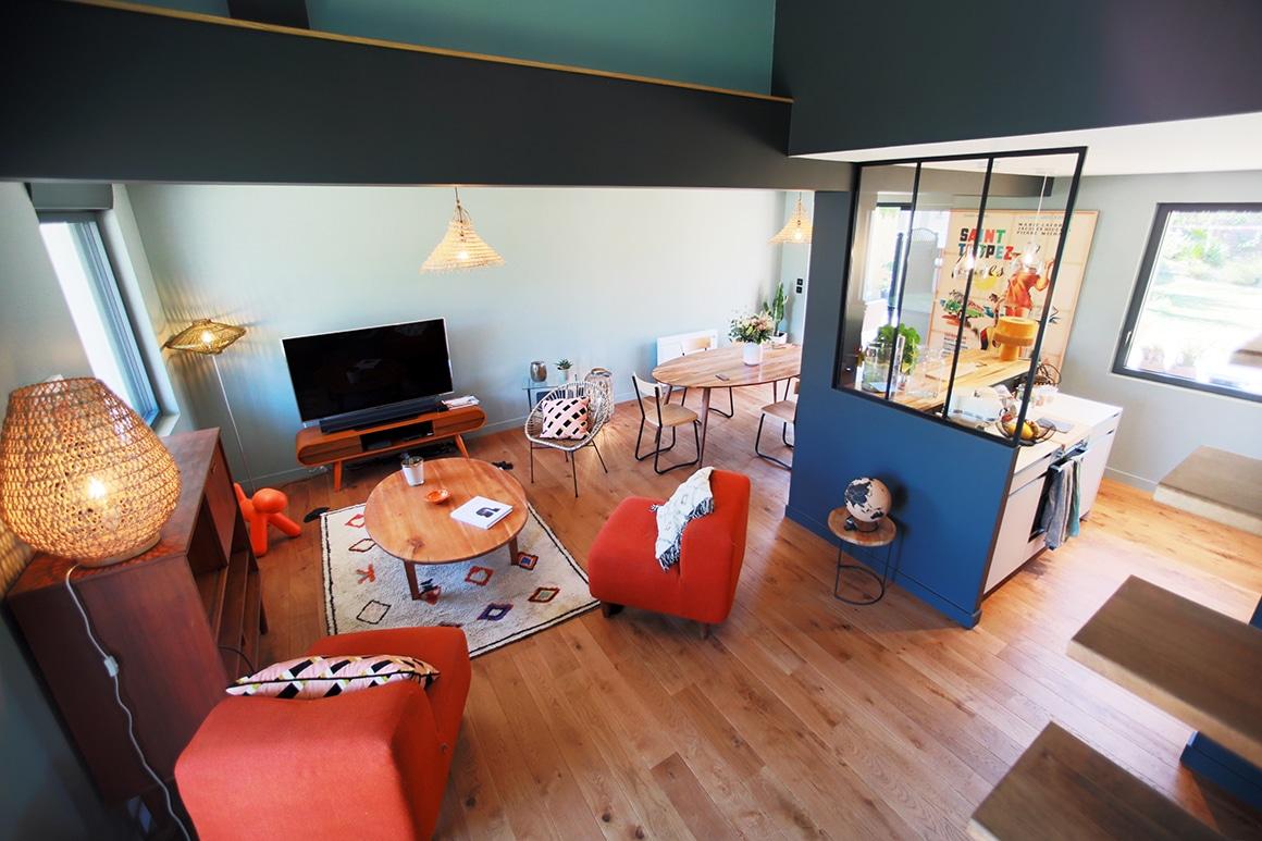 Rénovation d'une résidence secondaire des années 60 - Le clos normand - Jullouville - décoration d'intérieur - 01