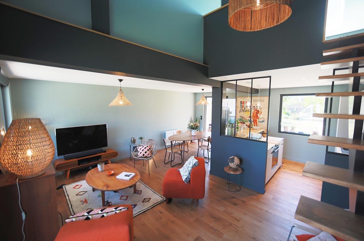 Rénovation d'une résidence secondaire des années 60 - Le clos normand - Jullouville - décoration d'intérieur - 02