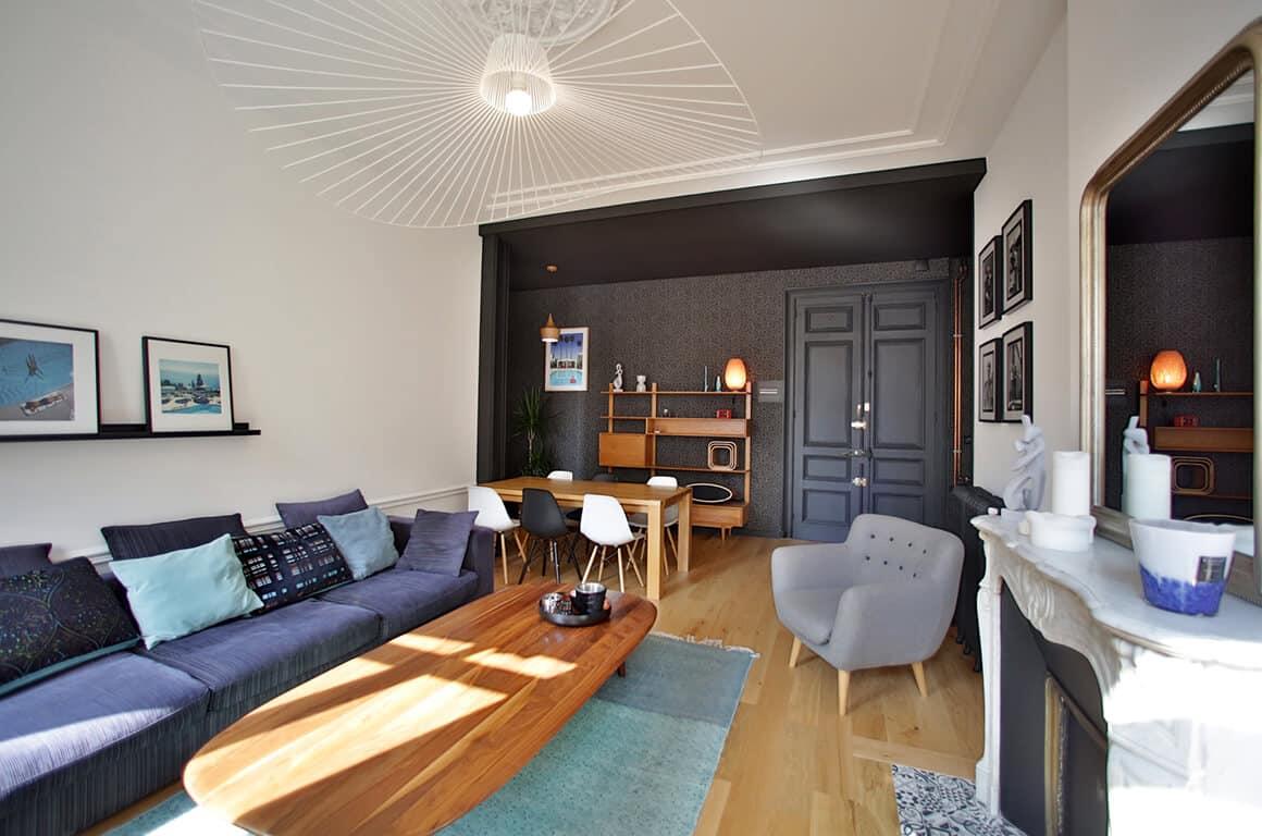 Rénovation tendance d'un appartement haussmannien - Granville - décoration d'intérieur